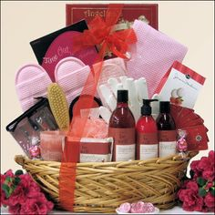 Be Well Pomegranate Spa Haven: Mother's Day Spa Gift Basket Gift Baskets For Women, Mother's Day Gift Baskets, Raffle Baskets, Gourmet Gift Baskets, Hamper Gift, Mothers Day Spa, Stag And Doe, Tall Wedding Centerpieces, Wedding Decorations