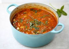 One-pot hearty vegetable soup. Easy to make, healthy and completely delicious! One of my all time favorite things to make during the winter is soup with homemade rolls.Perfect on a cold snowy day. This soup isfilled with tons of veggies and my kids even love it. The best part is the leftovers freeze beautifully. Just …