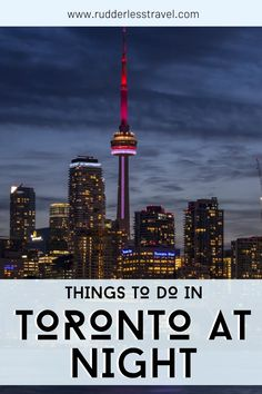Top things to do in Toronto at night. Explore this amazing Canadian city to the fullest. #Toronto #Canada #NorthAmerica Stuff To Do, Things To Do, Toronto Star, Top Travel Destinations, European Travel, North America, Night, Things To Make, Traveling Europe