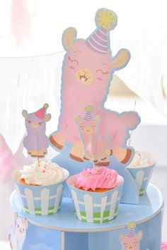 little llama 1st birthday party by kara's party ideas