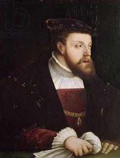 Portrait of Charles V (1500-58) (oil on panel)