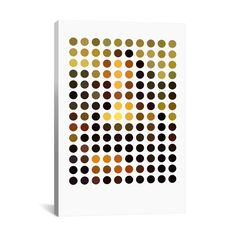 This is a fun interpretation of the Mona Lisa. With a simple application of revealing dots, the Lisa Circles canvas is a play on memory recall and the unmistakable, masterpiece painting by Leonardo da Vinci.