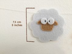 Sheep garland Nursery decor Counting sheep Baby by Artifanhas