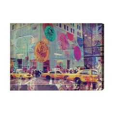 Oliver Gal NYC Fashion Taxi Graphic Art on Wrapped Canvas & Reviews | Wayfair