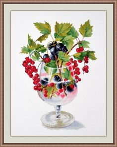 """Counted Cross Stitch Kit OVEN - """"Currant"""" #OVEN #Frame"""