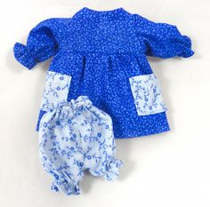 Toy Doll Outfit: Blue Dress Bloomers for Dolls by JoellesDolls