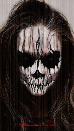 Halloween Face Paint by MichaelBroussard.... on | http://paintbodyideas335.blogspot.com