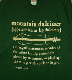 Mountain Dulcimer Definition T-Shirt