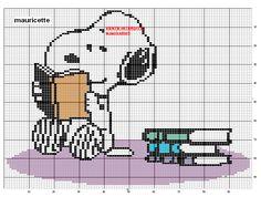 Snoopy Reading Cross Stitch