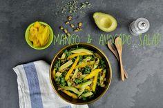 easy, healthy and tasty lunch idea MANGO & AVOCADO SALAD