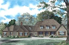 View this 2 story, 6 bedroom French Country home plan (#153-1942) with its open concept floor plan and thousands of similar house designs at The Plan Collection