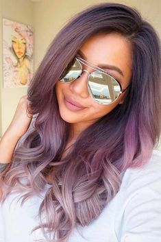 Image result for balayage silver purple