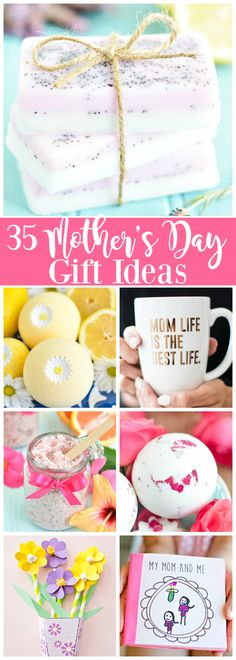 35 Creative Mother's Day gift ideas - handmade gifts for mom. Here are some of my favorite DIY Mother's Day gifts. #mothersday #homemadegifts