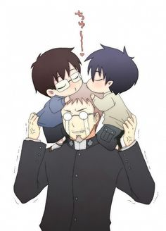 Rin, Yukio y Shiro // Ao No Exorcist-Blue Exorcist