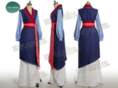 Yu Hu Jade Fox Blue Chiffon Computer Game Series Cosplay Costume For Women Strong Resistance To Heat And Hard Wearing Home