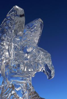 Eagle Ice Carving