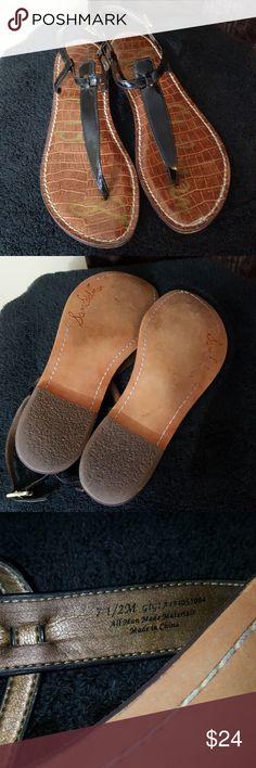 Sam Edelman black sandals Preworn but great condition!! Size 7.5 black. These are a closet staple!! Sam Edelman Shoes Sandals