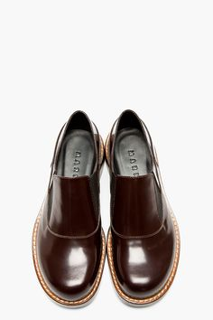 MARNI Brown Leather Loafers