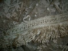 1 yard of rare victorian silk fringe in an by TextileArtLace