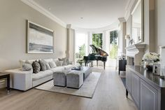 """After the fire, the couple decided to press on with the restoration. """"It was a huge job to source everything,"""" said Mrs. Bussey. """"Now the house looks exactly as we imagined it would—only better, because it uses all modern materials."""""""