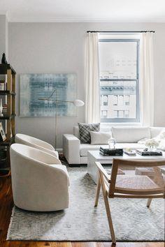 Our New York City Apartment Reveal – Margo & Me - Modern City Apartment Decor, New York City Apartment, Design Apartment, Small Apartment Decorating, Dream Apartment, Apartment Living, Apartment Ideas, Apartment View, Boston Apartment