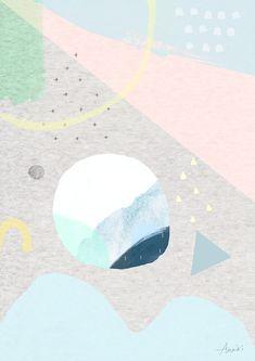"8 "" or Abstract Art Print - Fun, peach, pink, light blue, circles Art And Illustration, Illustrations, Abstract Pattern, Abstract Art, Abstract Portrait, Free Art Prints, Artwork Pictures, Geometric Art, Art Paintings"