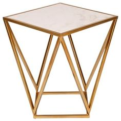 Shop for Maia Metal Modern Side Accent Table With Marble Top. Get free shipping at Overstock.com - Your Online Furniture Outlet Store! Get 5% in rewards with Club O!