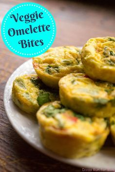 Are your mornings super busy and don't always give you enough time to cook breakfast? Try these Veggie Omelette Bites as an easy, healthy on-the-go breakfast option.