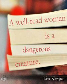 A well read woman..
