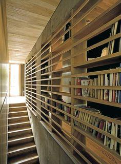 - Noe av det beste som er bygd i Oslo Stair Railing, Stairs, Library Bookshelves, Scandinavian Home, Book Nooks, Architect Design, Oslo, Modern Minimalist, Architecture Details