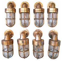 Refurbished Antique Bronze Nautical Petit Cabin Light Sconce - eclectic - wall sconces - RT Facts