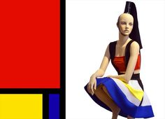 """GENESIS MANNEQUINS, Montreal, Canada, Piet Mondrian:""""The emotion of beauty is always obscured by the appearance of the object,therefore the object must be eliminated from the picture"""", pinned by Ton van der Veer"""