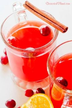 Hot cinnamon cranberry punch