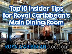 Royal Caribbean's main dining room is likely to be somewhere you visit almost every night of your cruise.  It's hard to deny the fun experience of d...