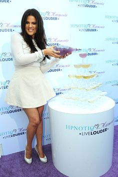 Khloe Kardashian shows some leg at Hpnotiq Harmonie launch party