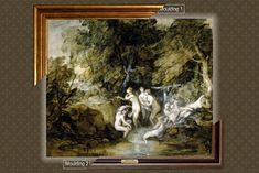 Canvas framed print, Diana and Actaeon_Thomas Gainsborough, giclee canvas, gold framed, nameplate by GoldFramedCanvas on Etsy