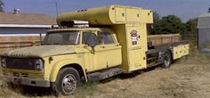 Prudhomme's rig before restoration. Dodge Trucks, Chevrolet Trucks, Old Trucks, Truck Ramps, Car Barn, Shop Truck, Car Carrier, Large Truck, Car Trailer