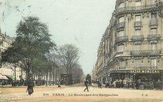 Le boulevard des Batignolles vers 1900  (Paris 8ème/17ème)