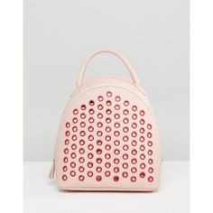 8b37a1691a7a1 ASOS Rivet Backpack (22.250 CRC) ❤ liked on Polyvore featuring bags