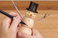 Woodturning Article: Turning a Snowman Box --- Learn how to turn a custom snowman box today! #woodturning #christmas #project #snowman