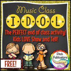 Free Music Show and Tell: Music Class Idol How To Show Love, Show And Tell, Piano Teaching, Teaching Kids, Music Activities, Music Games, Preschool Music, Kids Music, Music Music
