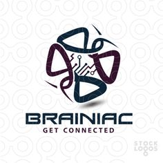 Logo FOR SALE!!! Logo made by lines to create a brain. www.thracianweb.com  / pre-made logos for sale