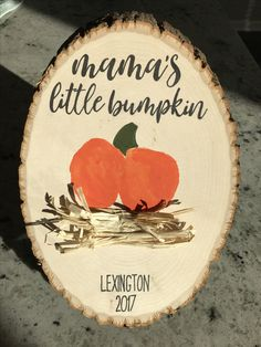 Mama's Little Bumpkin! Babys 1st Halloween, Halloween Crafts For Kids, Thanksgiving Crafts, Holiday Crafts, Keepsake Crafts, Weekend Crafts, Art Activities For Kids, Baby Art, Baby Crafts