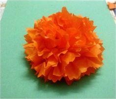 How to make Carnation flowers using tissue paper. I'm thinking fabric and starch or something to stiffen the fabric