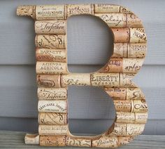 Harry and I have been collecting wine corks forever, this could be something cute to do with them.