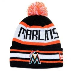 880afa24d21 MLB Marlins Beanie Winter Hats White Black Red Caps   Casquette Pas Cher New  Era Cap