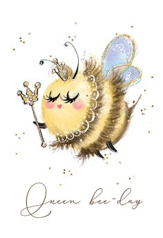 Mothers Day Cartoon, Bee Drawing, Drawing Ideas, Cartoon Drawings, Art Drawings, Mothers Day Card Template, Illustration Art Drawing, Bee Art, Free Printable Art
