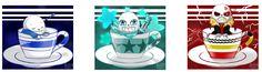 Sans in teacups!!! ♥♥♥