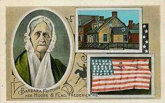 Frederick Maryland MD 1916 Barbara Fritchie House Flag Vintage Postcard
