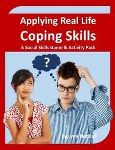 """Applying Real Life Coping Skills: A Social Skills Game and Activity Pack"" uses real life scenarios to teach stress management strategies to older elementary and secondary students.This resource can be used across various settings. Scenario cards make great discussion starters and writing prompts. $"